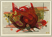 Hodaka Yoshida 1926-1995 - Red Abstract