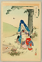 Gekko Ogata 1859-1920 - Comparison of Beauties and Flowers - Picnic