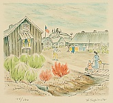 Henry Yuzuru Sugimoto 1900 - 1990 - Japanese Internment Camp - Daily Life