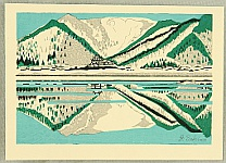Junichiro Sekino 1914-1988 - Castle and Lake