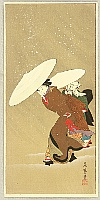 Fujimaro Kitagawa 1790-1850 - Out in the Snow Storm