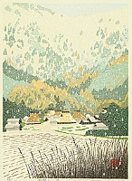 By Sano Seiji - Snow over the Mountain Village