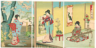 Chikanobu Toyohara 1838-1912 - Vacation House