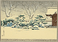 Nisaburo Ito 1910-1988 - Snowy Garden