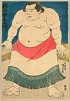 Sumo - Champion Tsurugiyama - By Kunisada