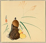 Konobu Hasegawa fl.ca. 1867-1879 - Hyotan Guard and pampas Grass