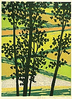 Fumio Fujita born 1933 - Field in Young Green - B