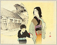 Eisen Tomioka 1864-1905 - Mother and Child