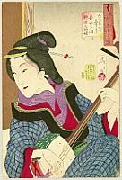 By Yoshitoshi Tsukioka (Taiso) - Shamisen Player