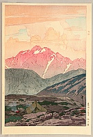 Hiroshi Yoshida 1876-1950 - 12 Scenes in Japan Alps - Mt. Tsurugi in the Morning