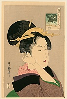 Utamaro Kitagawa 1750-1806 - Beauty in Purple Kimono
