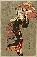 Utamaro Kitagawa 1750-1806 - Beauty in the Rain