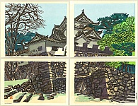 Okiie Hashimoto 1899-1993 - Hikone Castle in Early Spring