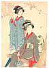 Chikuha Odake 1878-1936 - Two Beauties (kuchi-e)