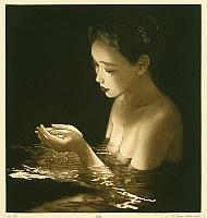 By Ushio Takahashi born 1944 - Mezzotint
