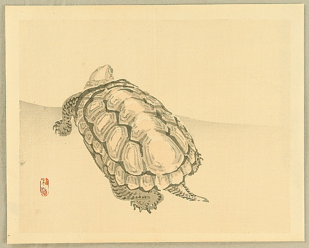 Bairei Kono 1844-1895 - Bairei Gadan - Tortoise