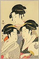 Utamaro Kitagawa 1750-1806 - Three Famous Beauties