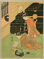 Harunobu Suzuki 1724-1770 - Two Girls