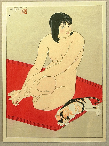 Ten Types of Female Nudes - Resting with a Cat