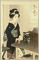 Preparing Tea - By Miki Suizan 1887-1957