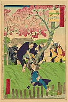 Hiroshige III Utagawa 1842-1894 - Humorous Scenes at the Famous Places of Tokyo - Taken by Kappa Monster