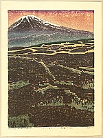 Hideo Hagiwara 1913-2007 - 36 Views of Mt. Fuji - Morning Mist, Burning Meadow
