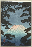 Shien  fl.ca. 1930-50s - Mt. Fuji in the Evening