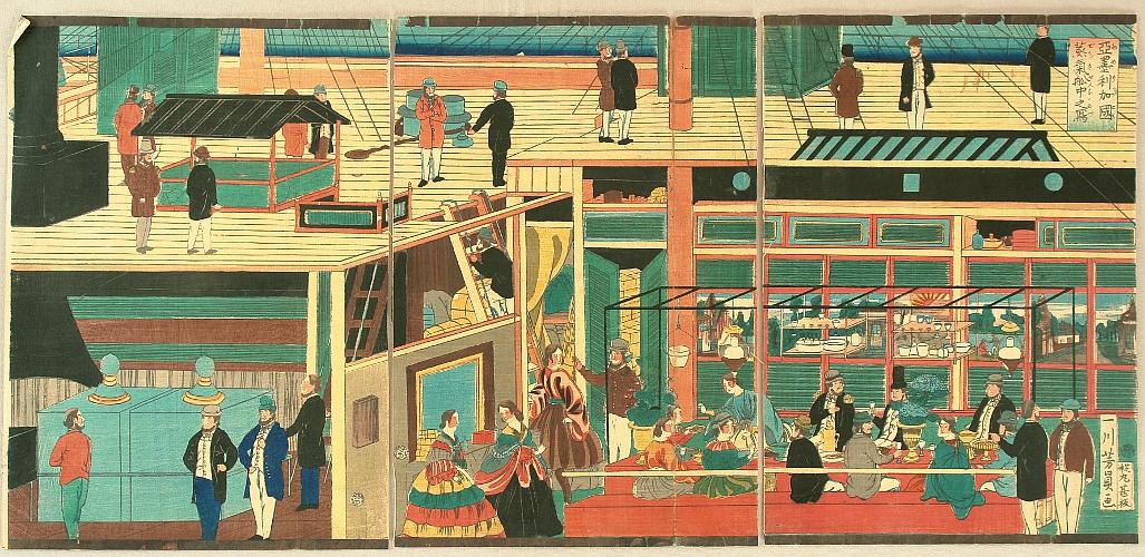 By Yoshikazu Utagawa  - Yokohama Print