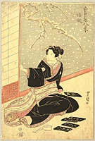 Toyokuni Utagawa 1769-1825 - Courtesan and Snow
