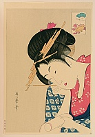 Utamaro Kitagawa 1750-1806 - Writing a Letter