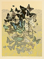 Chizuko Yoshida born 1924 - Butterflies in a Meadow