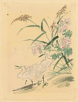 Eiichi Kotozuka 1906-1979 - Herons and Peonies - Watercolor on Silk