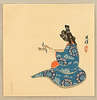 Yoshinobu  1838-1890 - Biwa Player