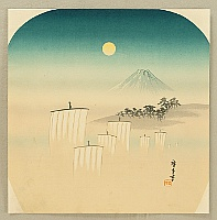 Hiroshige IV Ando fl.ca. 1920-30s - Mt. Fuji and the Moon