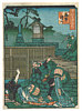 Yoshitoyo  1830-1866 - Comic Famous Places of Osaka