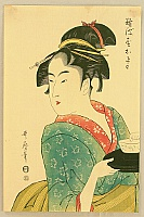 Utamaro Kitagawa 1750-1806 - Beauty and Tea Cup