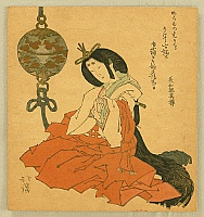 Hokkei Totoya 1780-1850 - Beauty in Shinto Costume