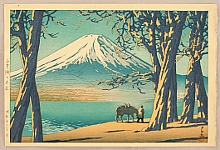 Late Autumn in Lake Yamanaka - By Hasui Kawase 1883-1957