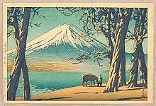 Late Autumn in Lake Yamanaka - By Hasui Kawase 1883-1957