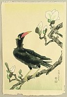 Eiichi Kotozuka 1906-1979 - Myna Bird and Magnolia