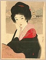Shuho Yamakawa 1898-1944 - Beauty and Shinobazu Pond