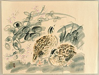 Eiichi Kotozuka 1906-1979 - Quails