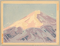 Sakuichi Fukazawa 1896-1947 - One Hundred Views of New Japan - Ura Fuji