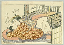 The Kiss - Koryusai Isoda 1735-1790