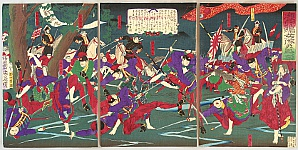 Chikanobu Toyohara 1838-1912 - Female Warriors of Kagoshima Rebellion