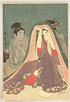 Utamaro Kitagawa 1750-1806 - Couple Under Mosquito Net