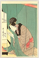 Utamaro Kitagawa 1750-1806 - Beauty in Mosquito Net