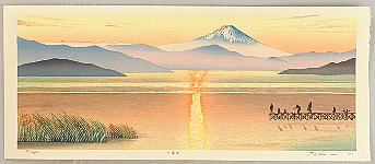 Mt. Fuji in Evening Glow