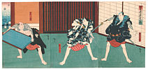 Hirosada Utagawa active ca. 1820-1860 - Intruders