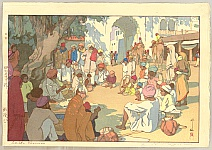 Hiroshi Yoshida 1876-1950 - Snake Charmers - India